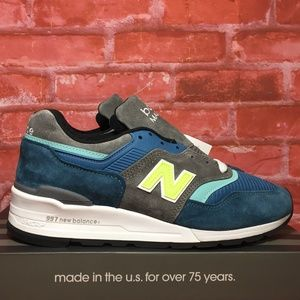NEW BALANCE M997PAC MADE IN USA BLUE GREY LIME